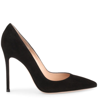 Gianvito 105 black suede pumps