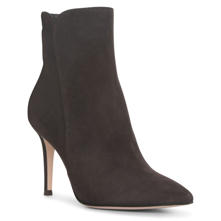 Levy dark brown suede ankle boots