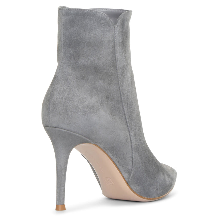 Levy grey suede ankle boots