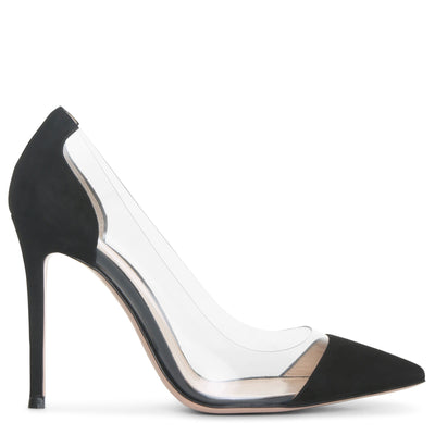 Plexi 105 black suede pumps