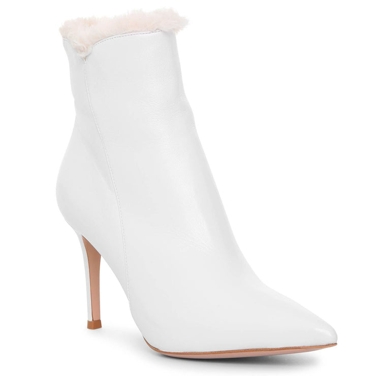Levy 85 white ankle boots