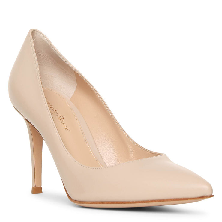 Gianvito 85 cream leather pumps