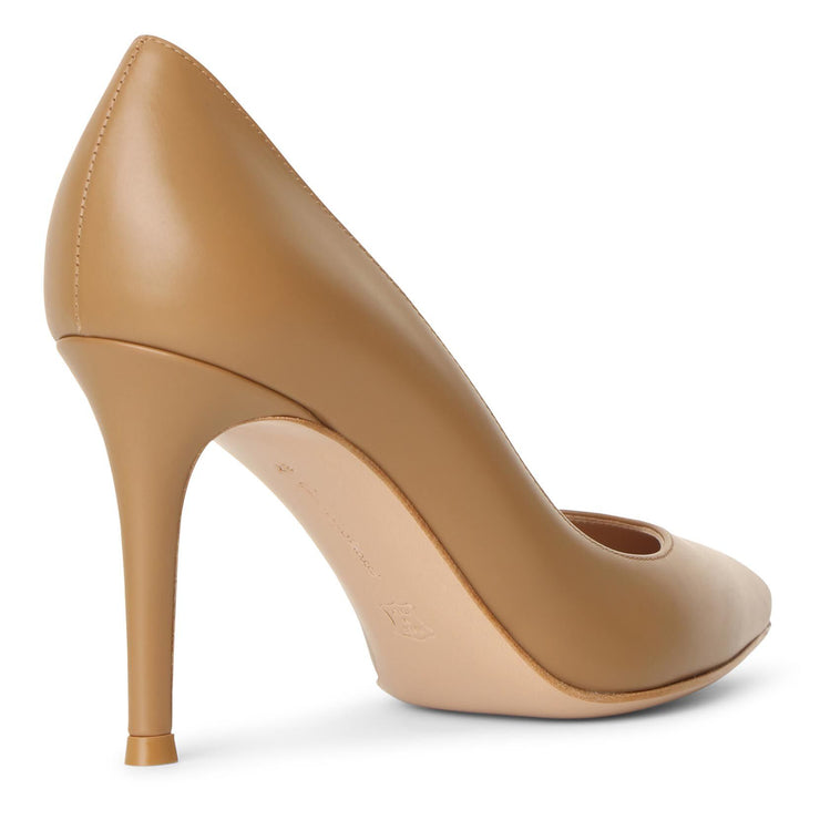 Gianvito 85 tan leather pumps