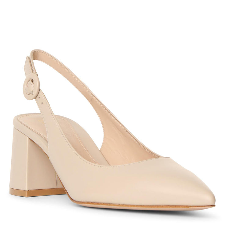 Agathe slingback leather pumps