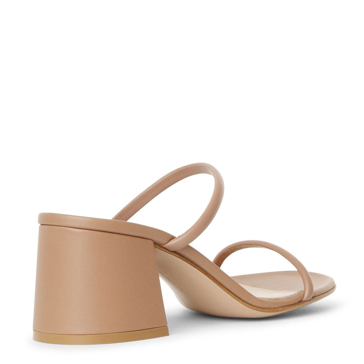 Byblos 60 dark beige leather sandals