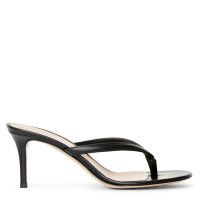 Calypso 70 black leather sandals