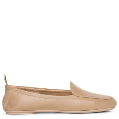 Praline soft leather flats