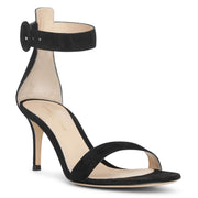 Portofino 70 black suede sandals