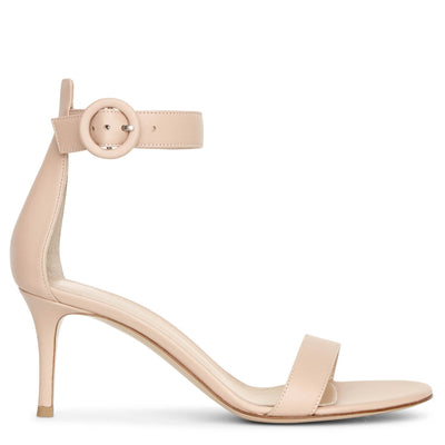 Portofino 70 peach leather sandals