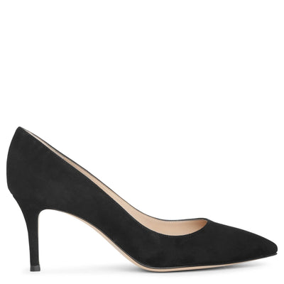 Gianvito 70 black suede pumps