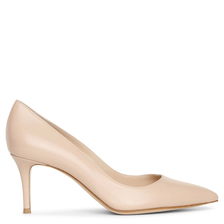 Gianvito 70 peach leather pumps
