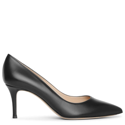 Gianvito 70 black leather pumps
