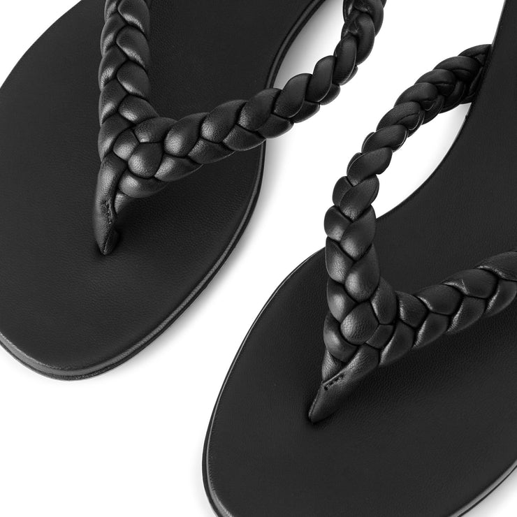Tropea flat braided thong sandals