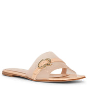 Gemini flat patent leather sandals