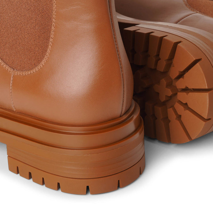 Chester tan leather ankle boots