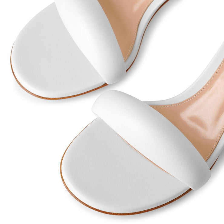 Bijoux 55 white leather sandals