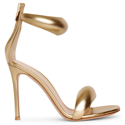 Bijoux 105 gold leather sandals