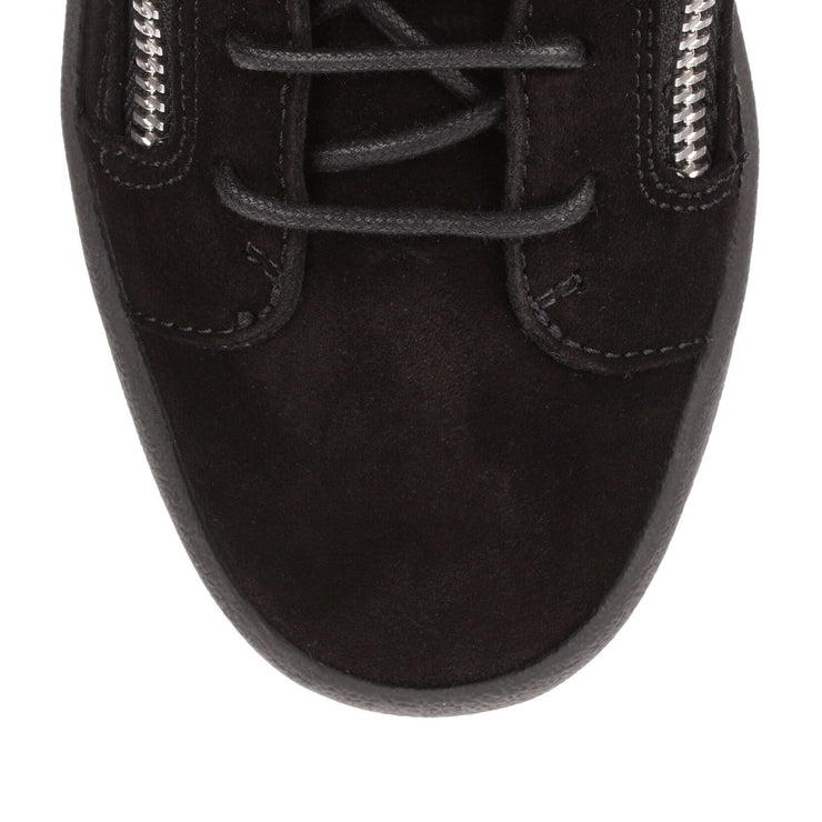 Kriss black suede shearling sneaker