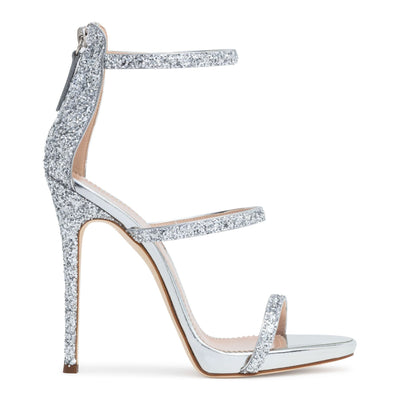 Harmony 120 silver glitter sandals