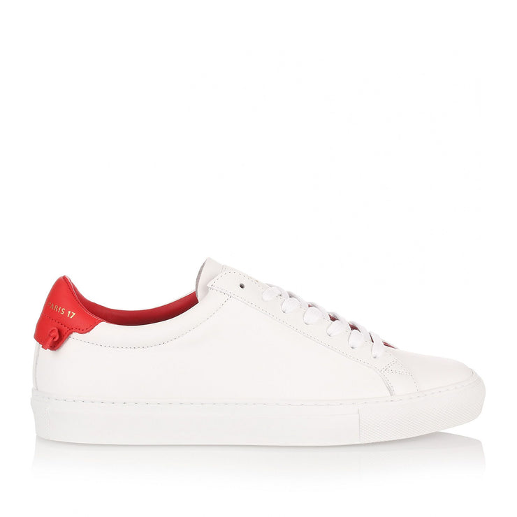 White and red sneaker