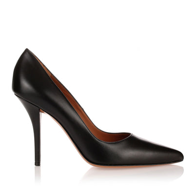 Infinity 100 black leather pump