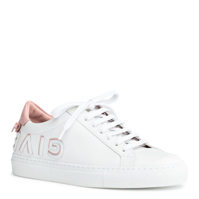 Urban Street white and pink logo reverse sneakers