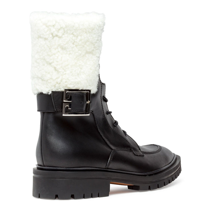 Aviator shearling ankle boots
