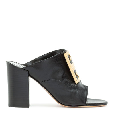 Black leather 90 4G Mules