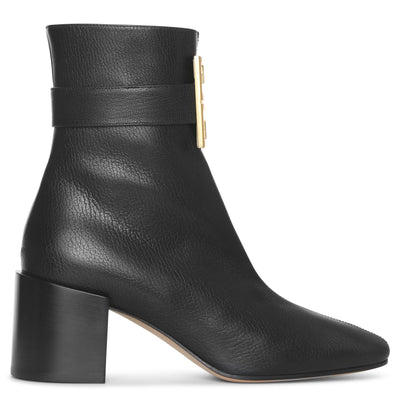 4G leather ankle boots