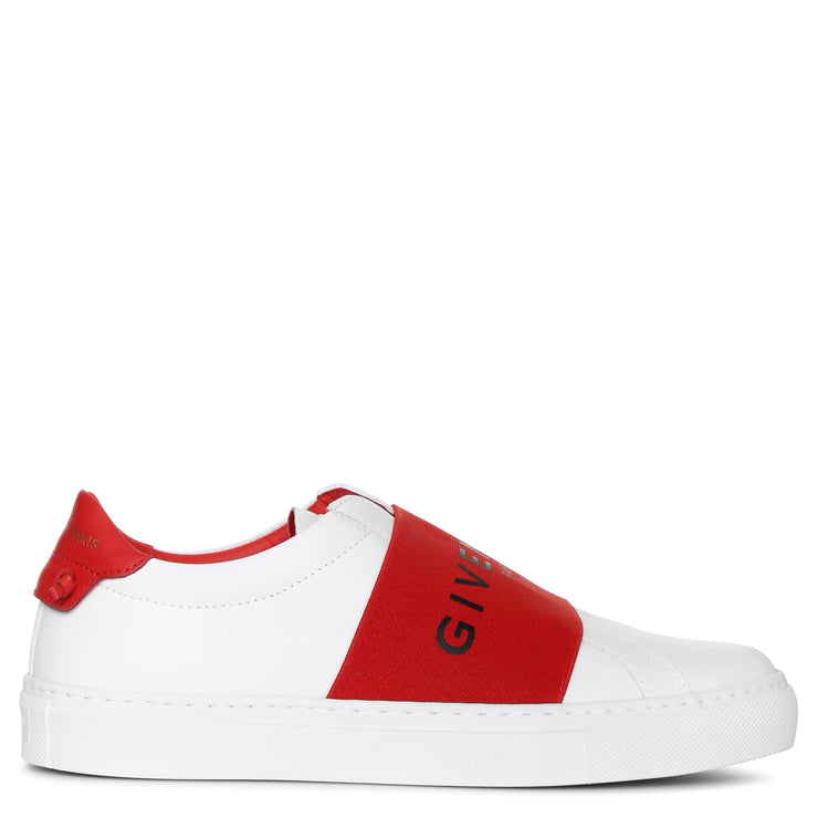 Urban street red logo sneakers