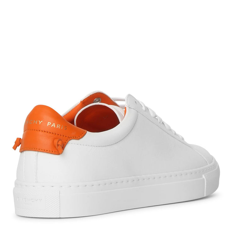 Urban Street white and tangerine sneakers