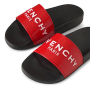 Givenchy Paris rubber glossy red sandals