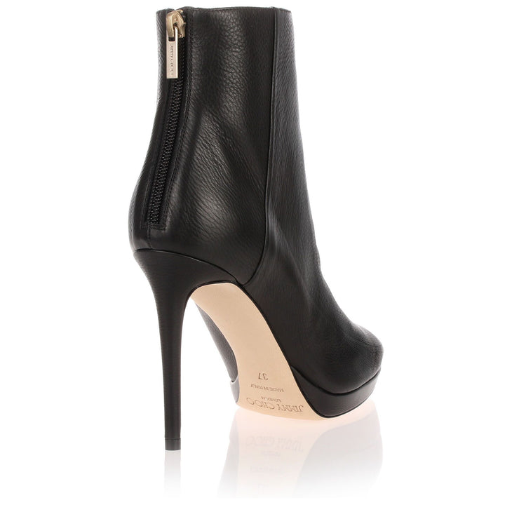 Harvey black leather platform boot