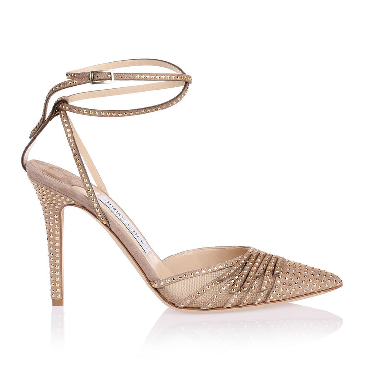 Kizzy nude suede studded sandal