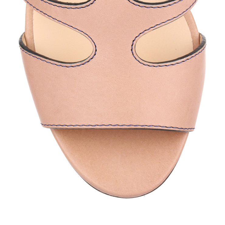 Ren 35 beige leather sandal