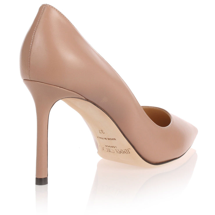 Romy 85 pink leather pump