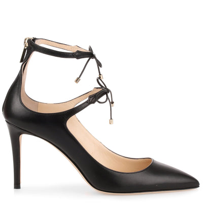 Sage 85 black leather pump