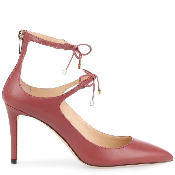 Sage 85 vintage rose leather pump