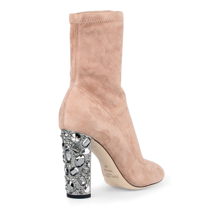Maine 100 ballet pink suede boots
