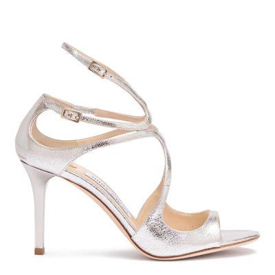 Ivette 85 champagne glitter leather sandals