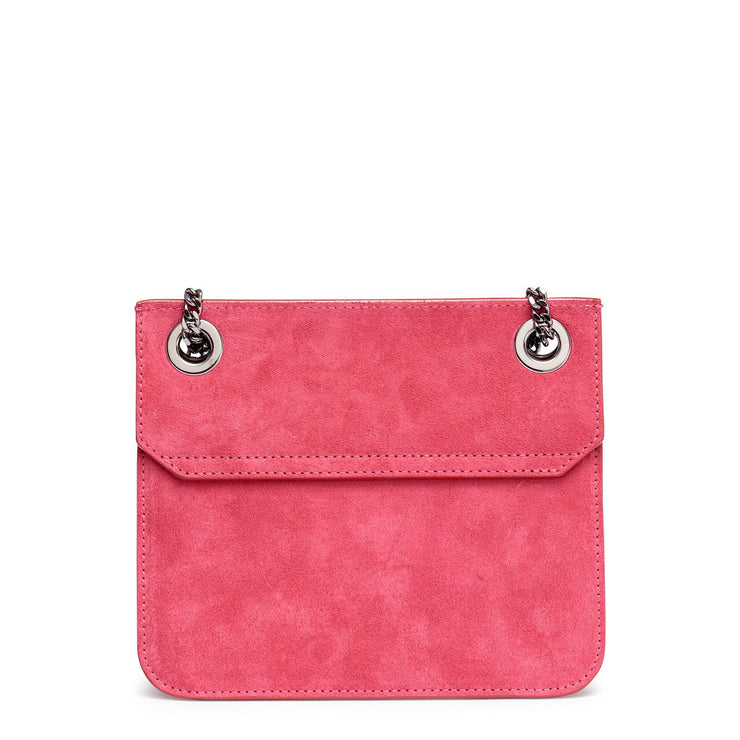 Rebel pink suede small bag