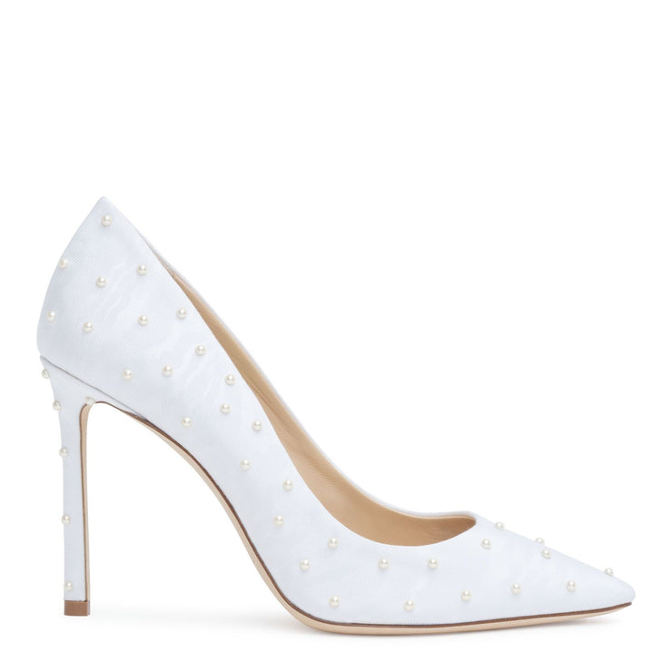 Romy 100 white pearl pumps