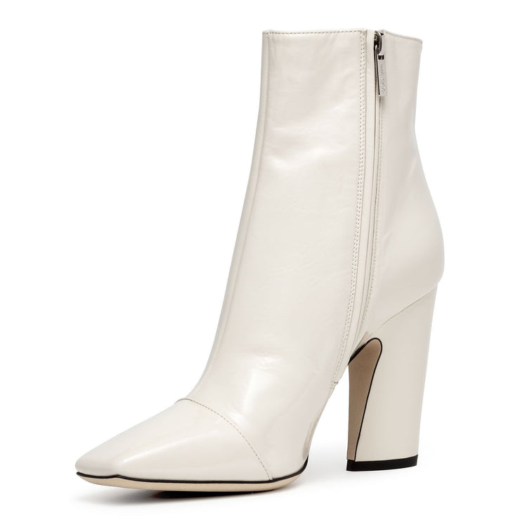 Mirren 100 cream soft patent boots