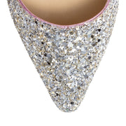 Romy 60 silver pink glitter pumps