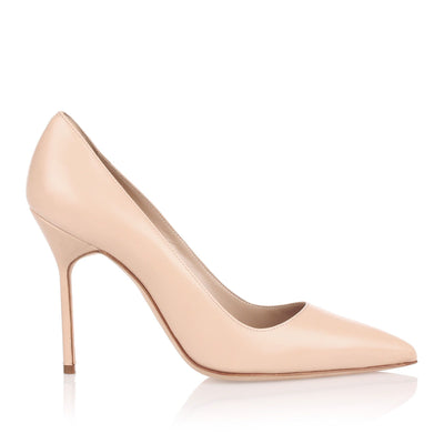 BB105 nude leather pumps