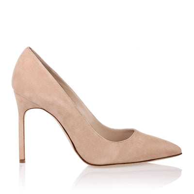BB105 nude suede pumps