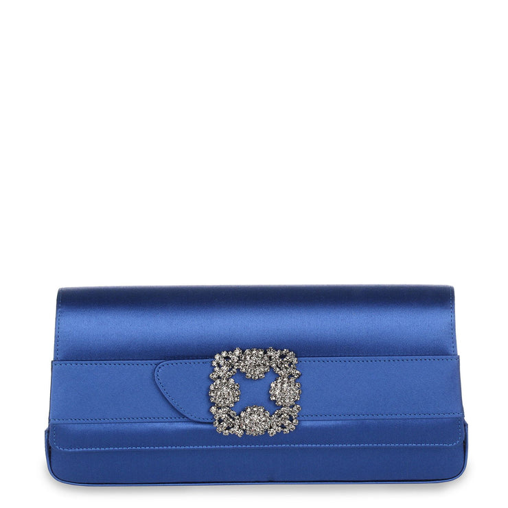Gothisi Royal Blue satin clutch