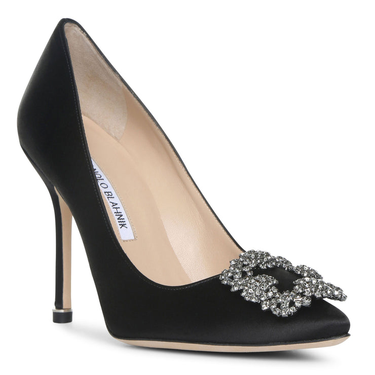 Hangisi 105 black satin pump