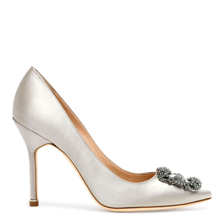Hangisi 105 silver grey satin pump