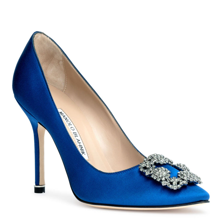 Hangisi 105 Royal blue satin pumps